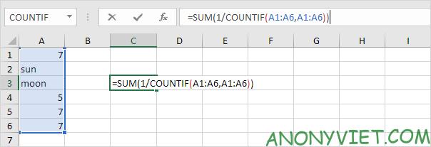 Bài 202: Cách đếm các giá trị duy nhất trong Excel 35