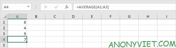 Bài 177: Cách sử dụng hàm AVERAGE trong Excel
