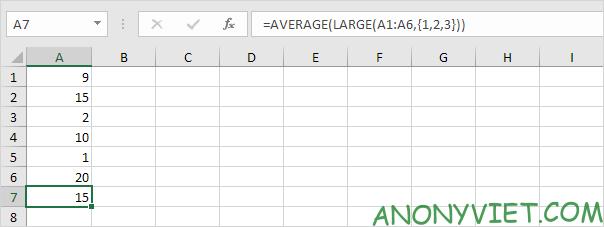 Bài 177: Cách sử dụng hàm AVERAGE trong Excel 53