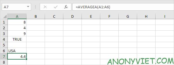 Bài 177: Cách sử dụng hàm AVERAGE trong Excel 49
