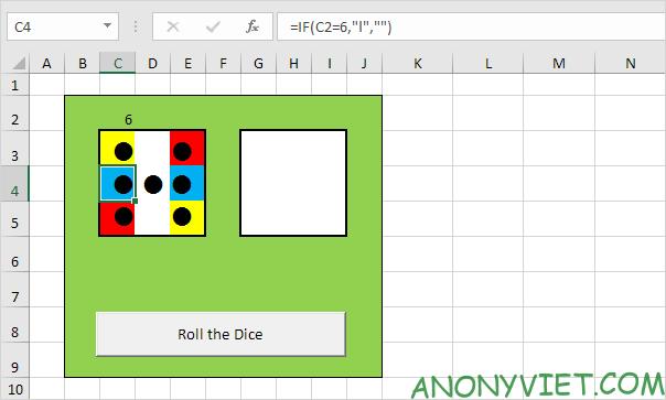 Bài 116: Cách tạo xúc xắc trong Excel 35
