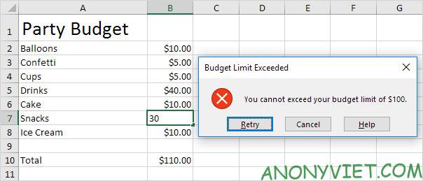 Bài 67: Cách giới hạn ngân sách trong Excel 28