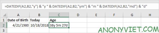 Bài 134: Cách tính tuổi trong Excel 32