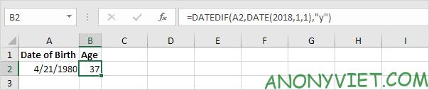 Bài 134: Cách tính tuổi trong Excel 31