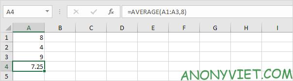 Bài 177: Cách sử dụng hàm AVERAGE trong Excel 47