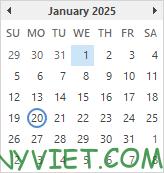 Bài 59: Cách tạo Lịch ngày nghỉ trong Excel 28