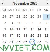 Bài 59: Cách tạo Lịch ngày nghỉ trong Excel 26
