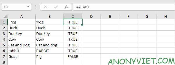 Bài 149: Cách so sánh văn bản trong Excel 22
