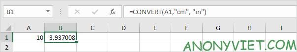 Bài 72: Cách chuyển đổi đơn vị từ cm sang inch trong Excel 33