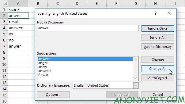 Bài 38: Cách kiểm tra chính tả trong Excel 49