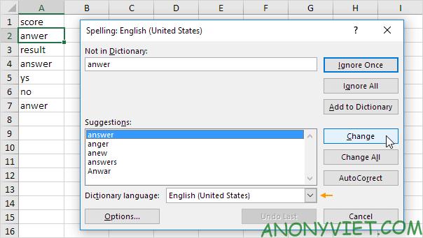 Bài 38: Cách kiểm tra chính tả trong Excel 48