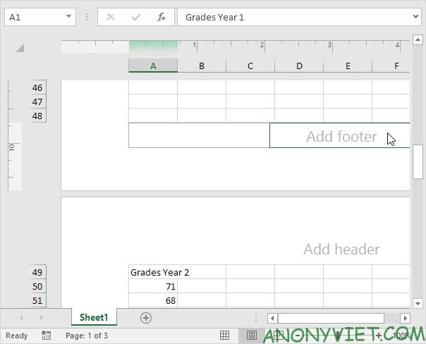 Bài 85: Cách sử dụng Page Number đánh số trang trong Excel 32