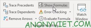 Bài 81: Cách hiển thị công thức trong Excel 24