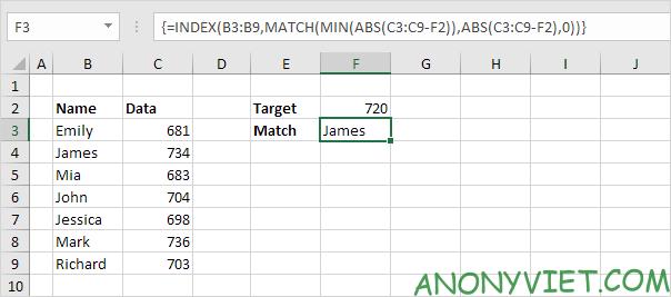 Bài 164: Tìm kết quả khớp nhất trong Excel 32