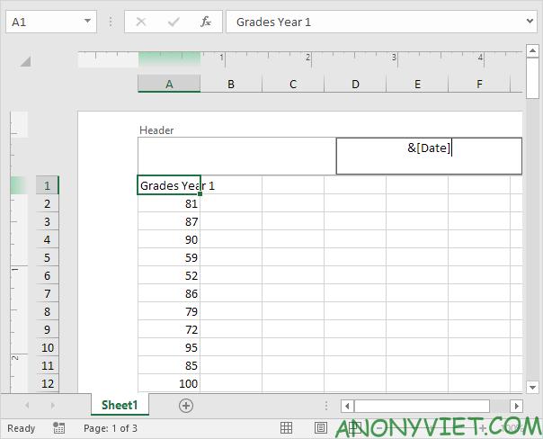 Bài 84: Cách sử dụng Header và Footer trong Excel 31