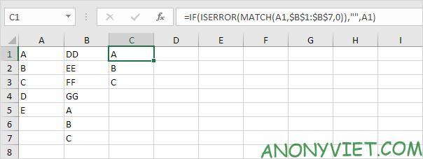 Bài 165: So sánh 2 cột trong Excel 34