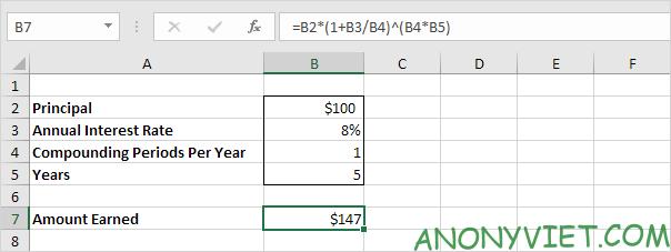 Bài 170: Cách tính lãi kép trong Excel 42