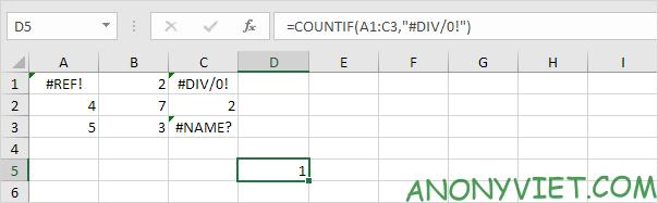 Bài 201: Cách đếm lỗi trong Excel 24