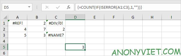 Bài 201: Cách đếm lỗi trong Excel 23