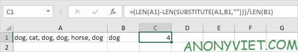 Bài 143: Cách đếm từ trong Excel 58