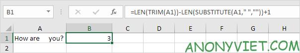 Bài 143: Cách đếm từ trong Excel 52