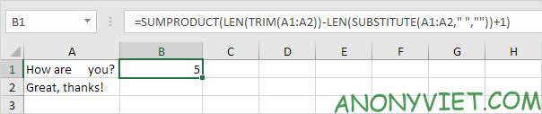 Bài 143: Cách đếm từ trong Excel 53