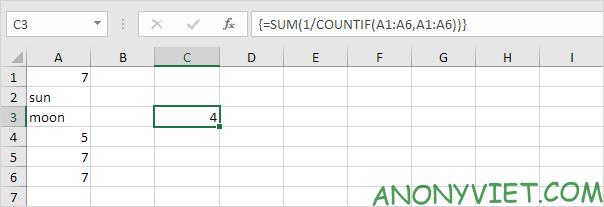 Bài 202: Cách đếm các giá trị duy nhất trong Excel 36