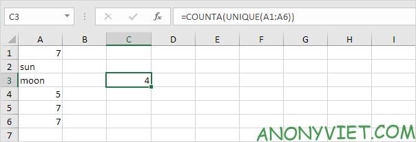 Bài 202: Cách đếm các giá trị duy nhất trong Excel 39