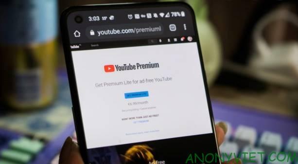 dang youtube premium lite