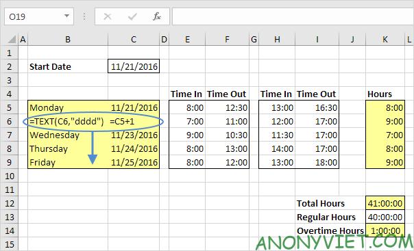 Bài 64: Cách tạo bảng thời gian biểu trong Excel