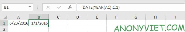Bài 141: Tính ngày trong năm Excel 19