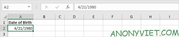 Bài 134: Cách tính tuổi trong Excel