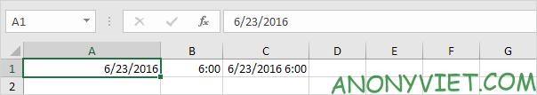 Bài 133: Định dạng Date và Time trong Excel