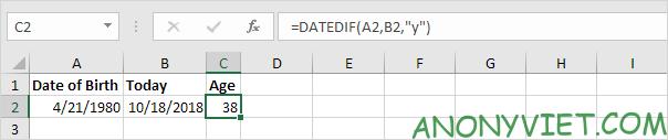 Bài 134: Cách tính tuổi trong Excel 29