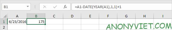 Bài 141: Tính ngày trong năm Excel 20