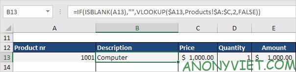 Bài 62: Cách tạo hóa đơn tự động trong Excel 34