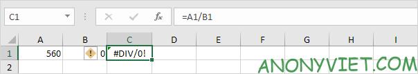 Bài 194: Cách sử dụng hàm IfError trong Excel