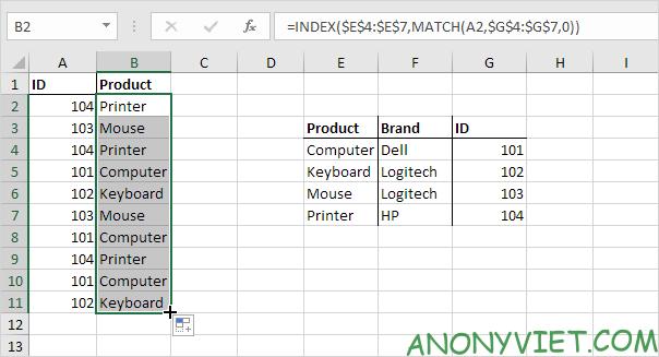 Bài 160: Tra cứu bên trái trong Excel 20