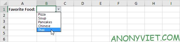 Bài 70: Cách tạo Menu xổ xuống trong Excel 110