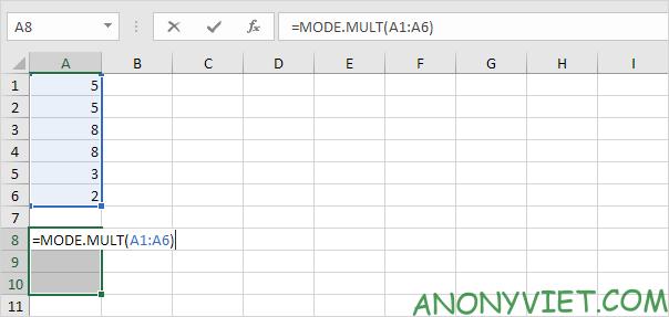 Bài 187: Cách sử dụng hàm Mode trong Excel 41