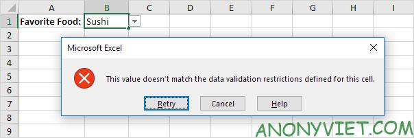 Bài 70: Cách tạo Menu xổ xuống trong Excel 96