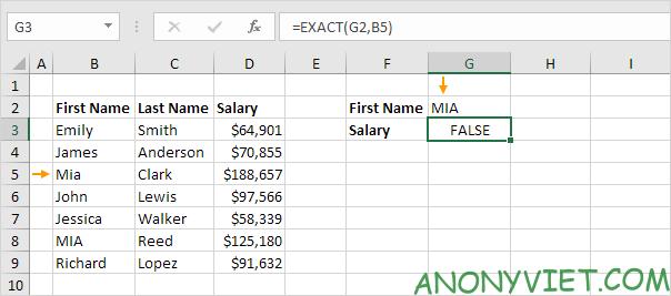 Bài 159: Tra cứu phân biệt chữ hoa chữ thường trong Excel 31