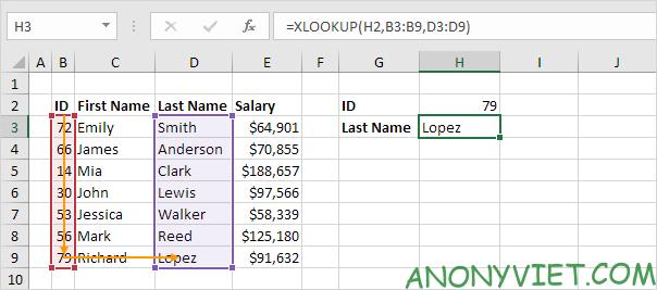 Bài 166: Cách sử dụng hàm Xlookup trong Excel 44
