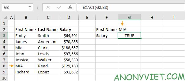 Bài 159: Tra cứu phân biệt chữ hoa chữ thường trong Excel 32