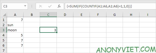 Bài 202: Cách đếm các giá trị duy nhất trong Excel 37