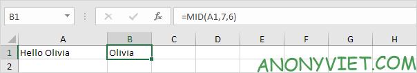 Bài 153: Cách xử lý chuỗi con trong Excel