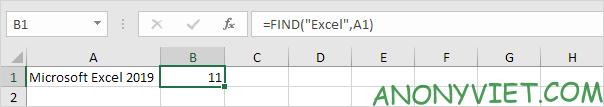 Bài 145: Cách sử dụng hàm FIND trong Excel 25