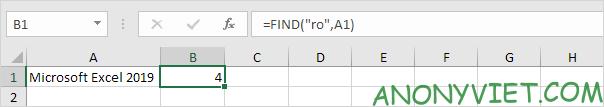 Bài 145: Cách sử dụng hàm FIND trong Excel