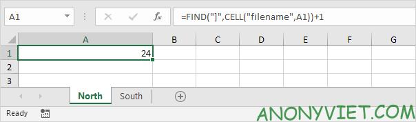 Bài 37: Cách lấy tên trang tính trong Excel 26