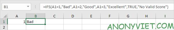 Bài 117: Cách sử dụng hàm Ifs trong Excel